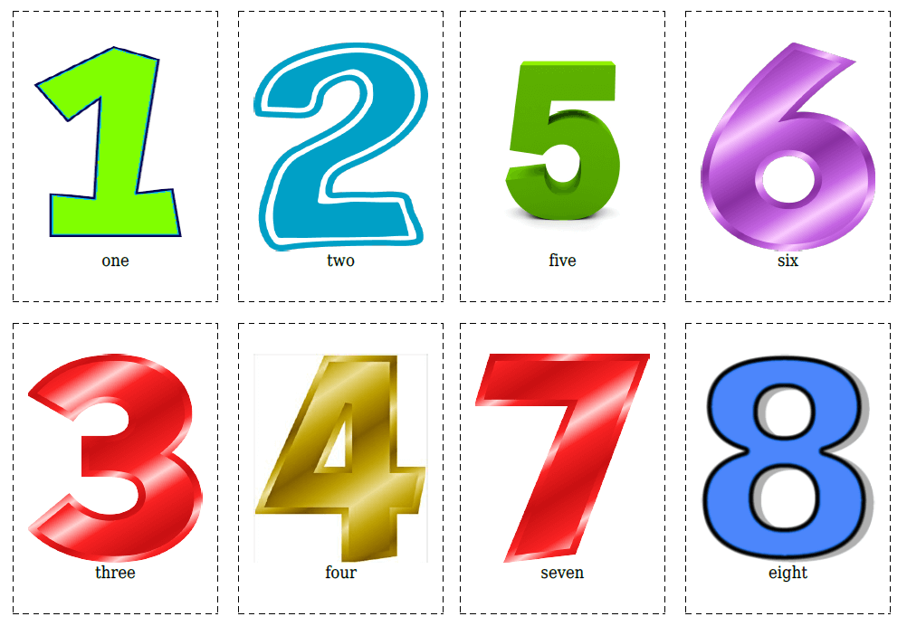 20 Flashcards of Numbers