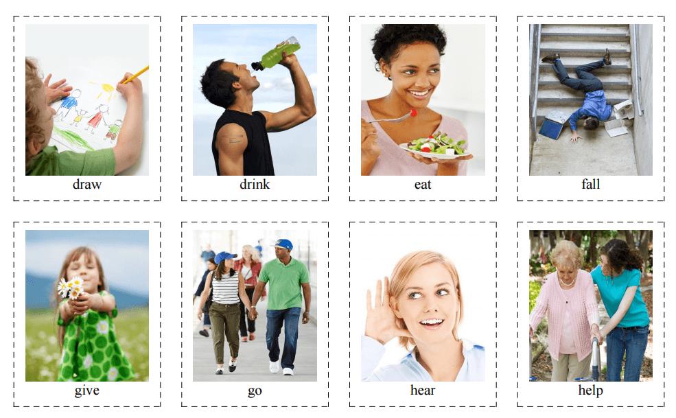 40 Flashcards of English Verbs