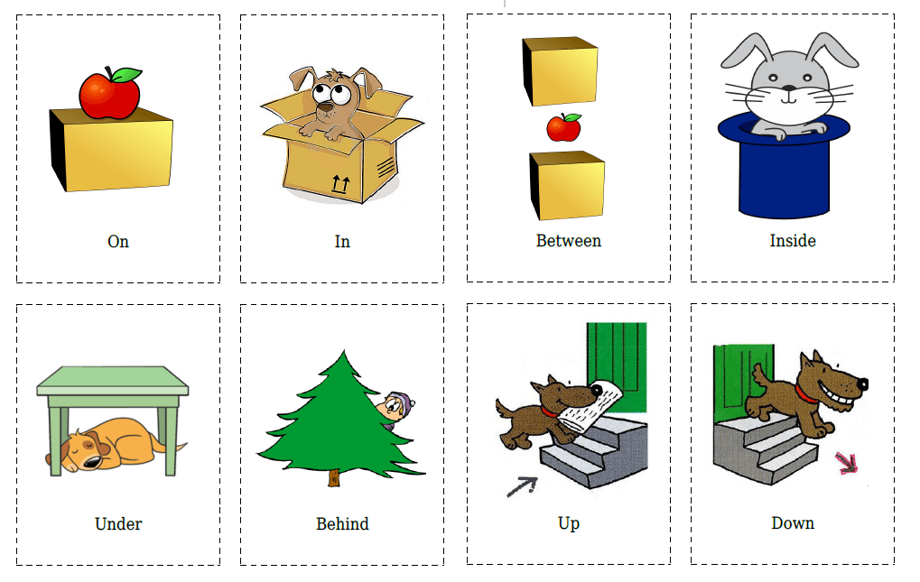 20 Flashcards of Prepositions