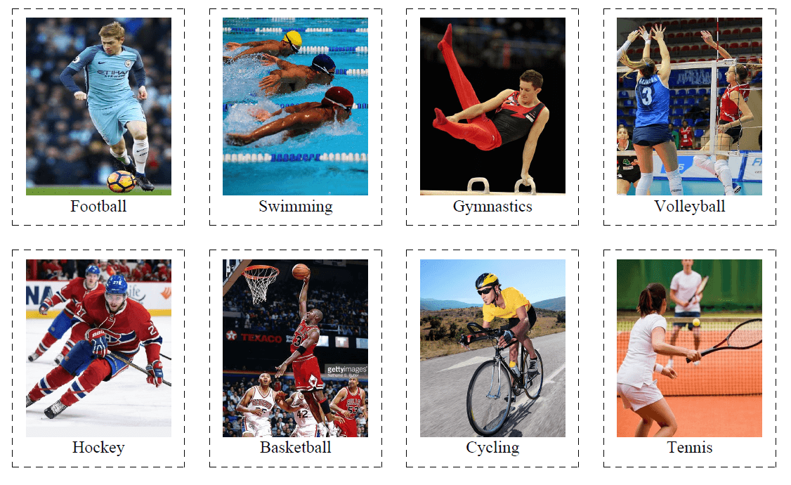 40 Flashcards of Sports