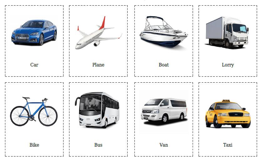 20 Flashcards of Transport