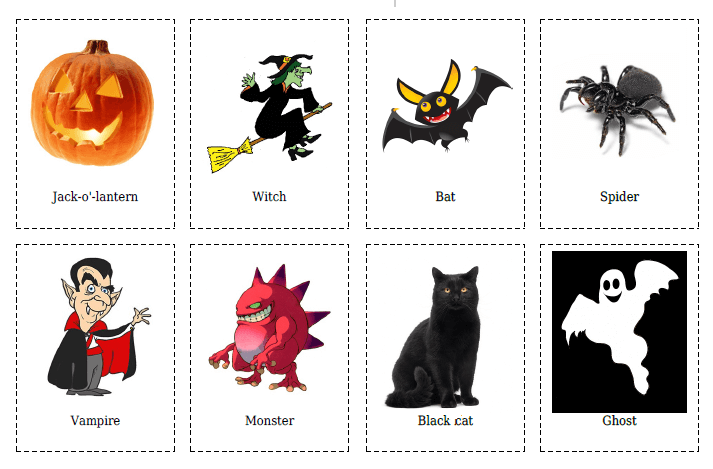 20 Halloween Flashcards