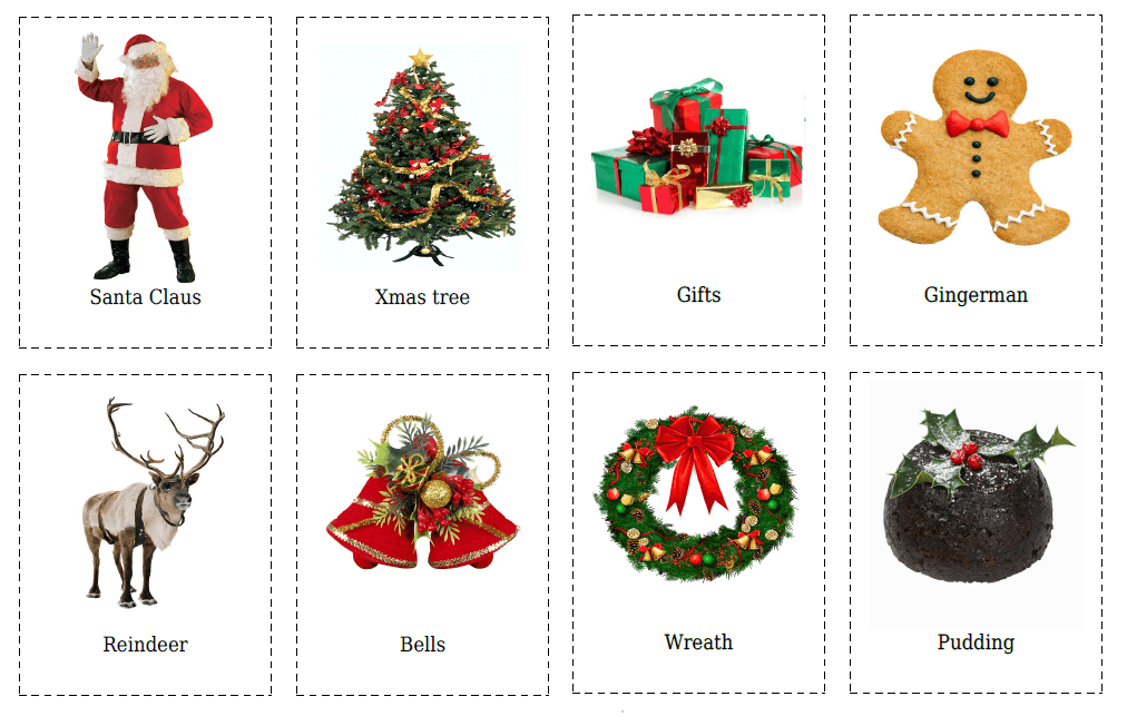 20 Christmas Flashcards