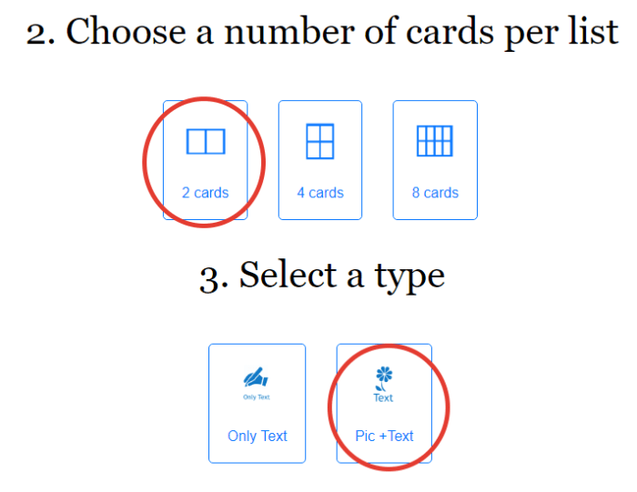 4 flashcard template