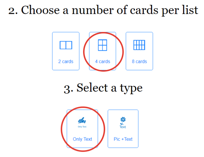 2 flashcard template
