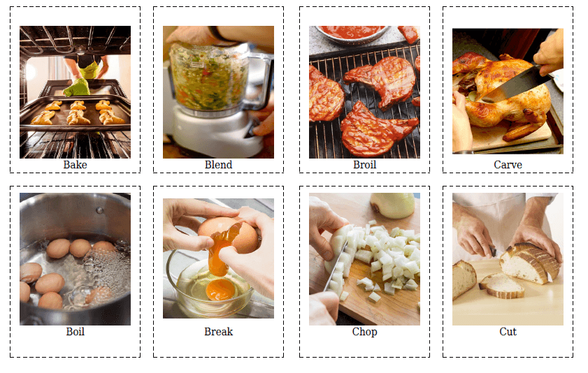 20 Cooking Verbs Flashcards