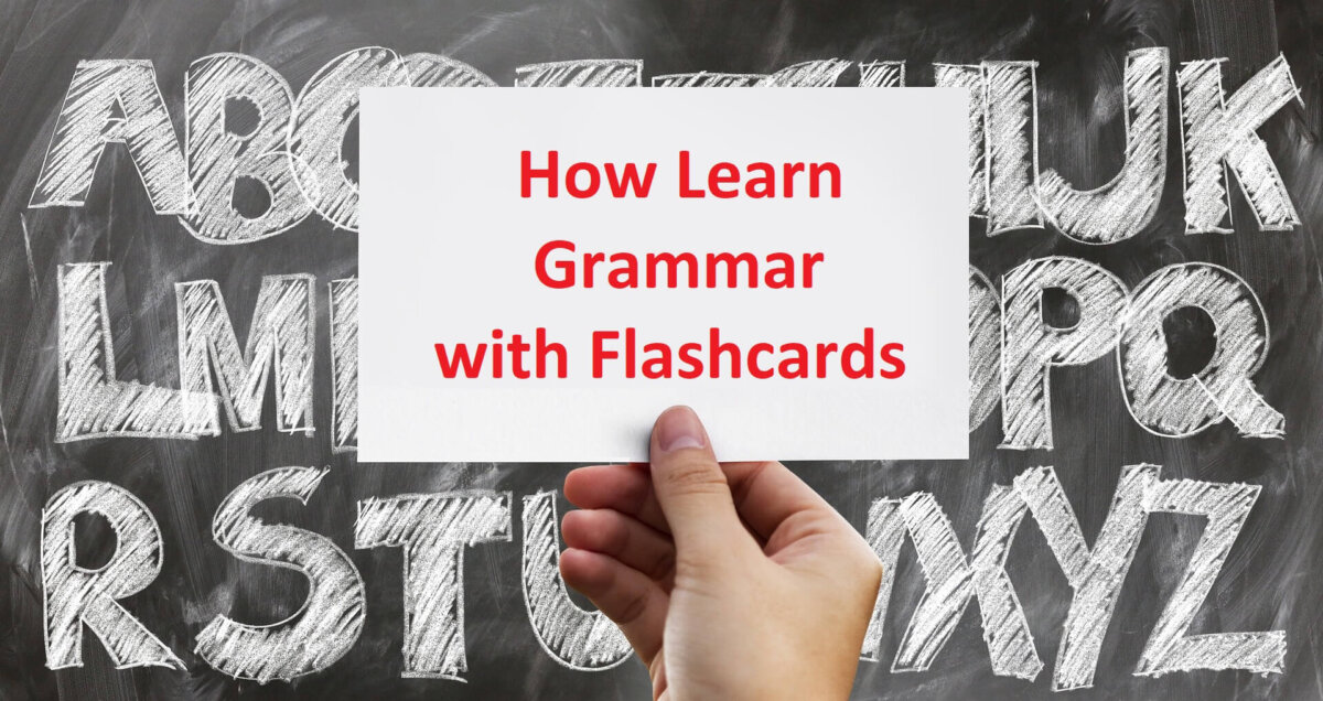 how to learn grammar with flashcards