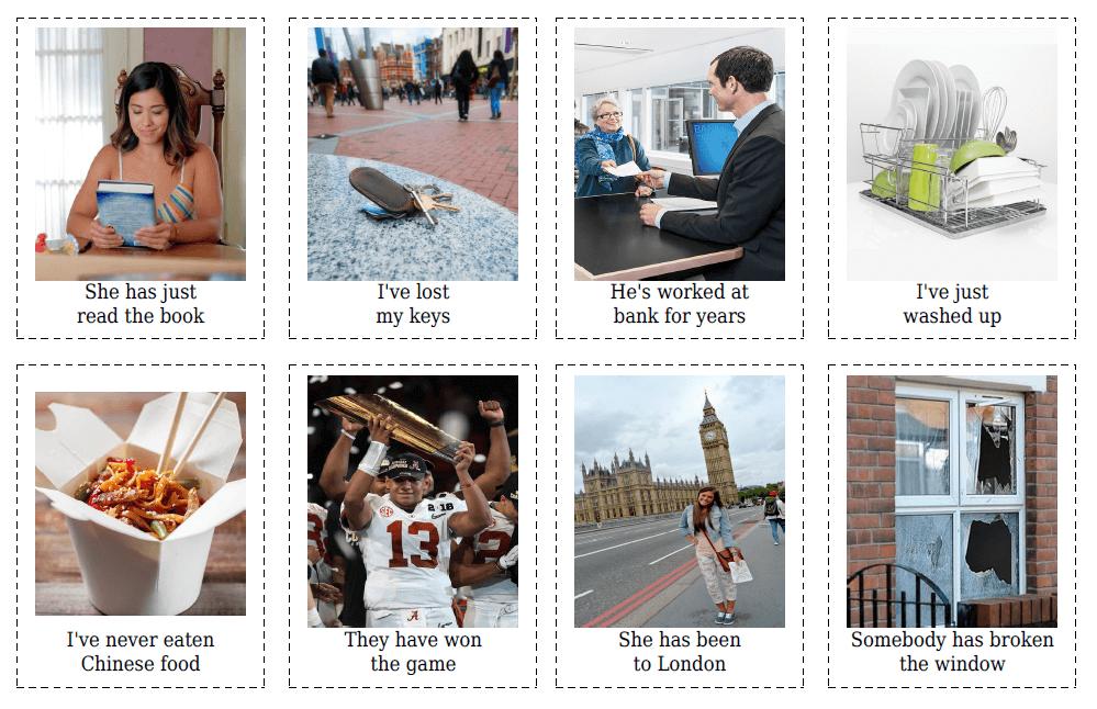 12 Present Perfect Flashcards