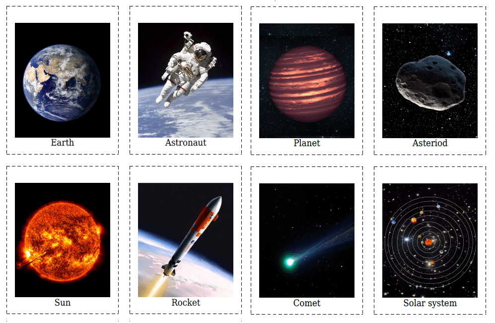 20 Space Flashcards