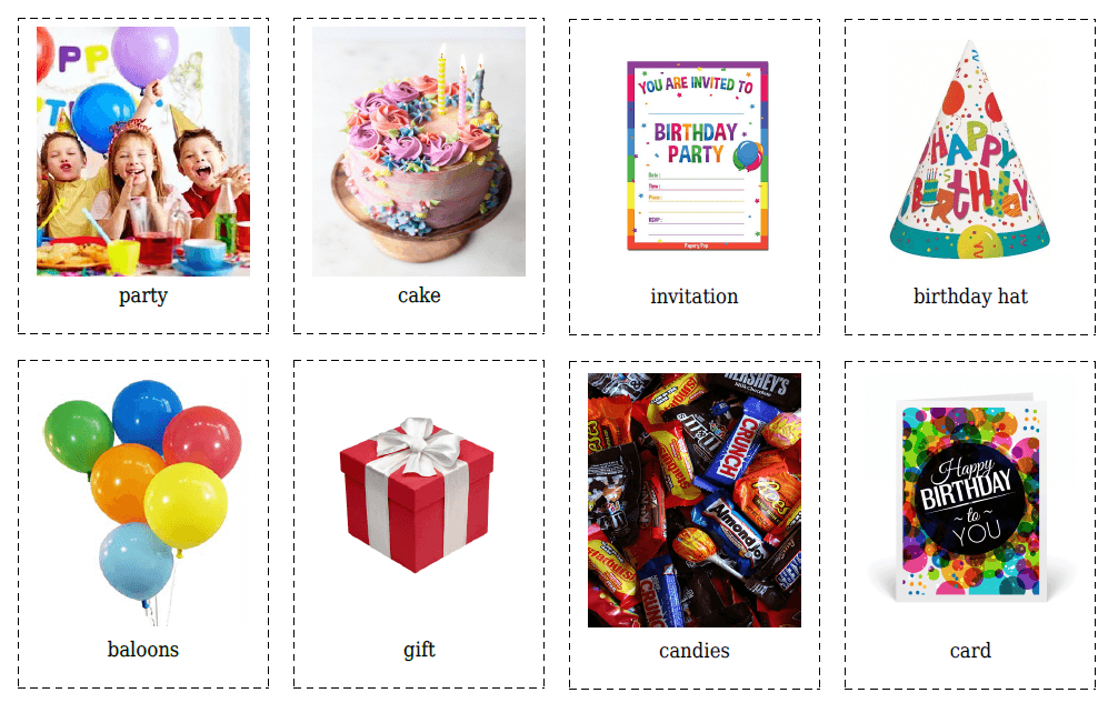 birthday flashcards
