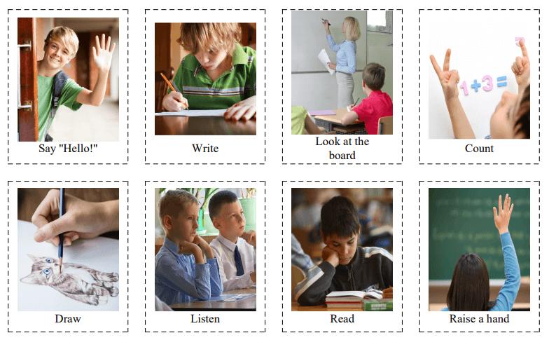 30 Classroom Language Flashcards