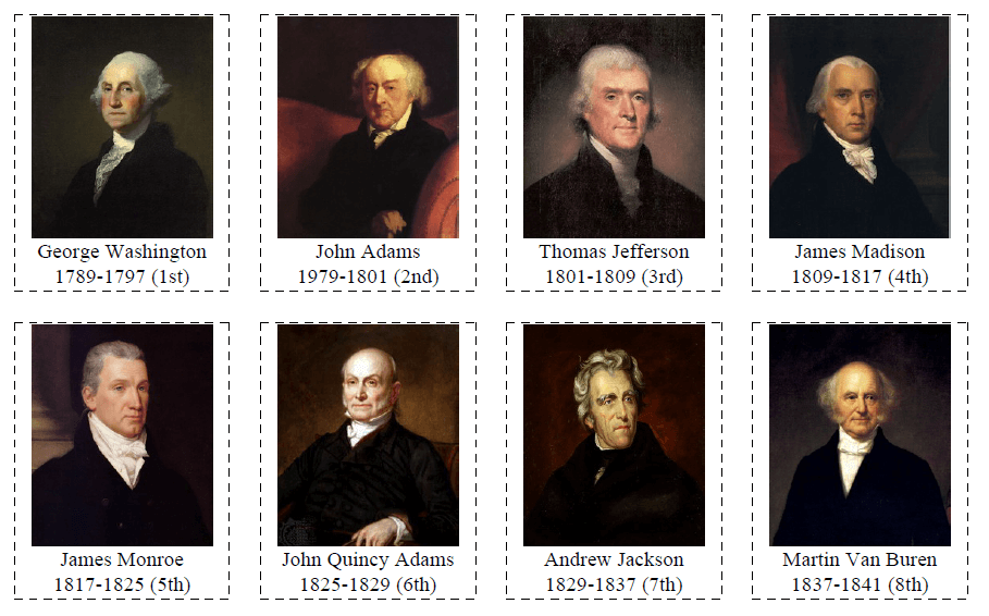 45 Flashcards of US Presidents