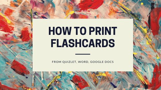 How to print flashcards