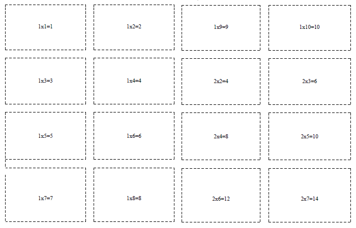 50+ Multiplication Flashcards